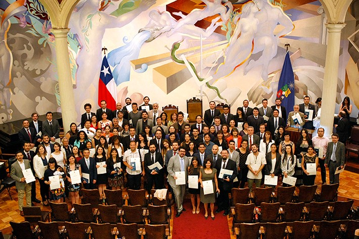 Ceremonia de graduación a los nuevos doctores y doctoras del Doctorado en Ciencias Sociales de la Universidad de Chile