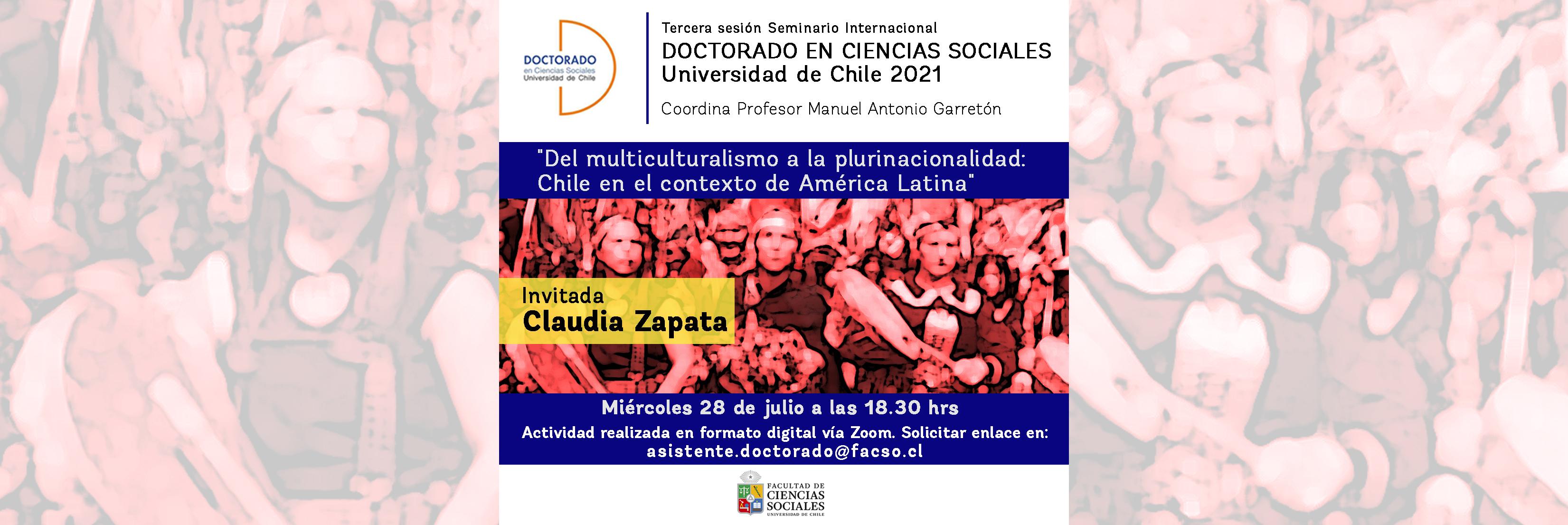 Tercera sesión del seminario Internacional del Doctorado en Ciencias Sociales 2021