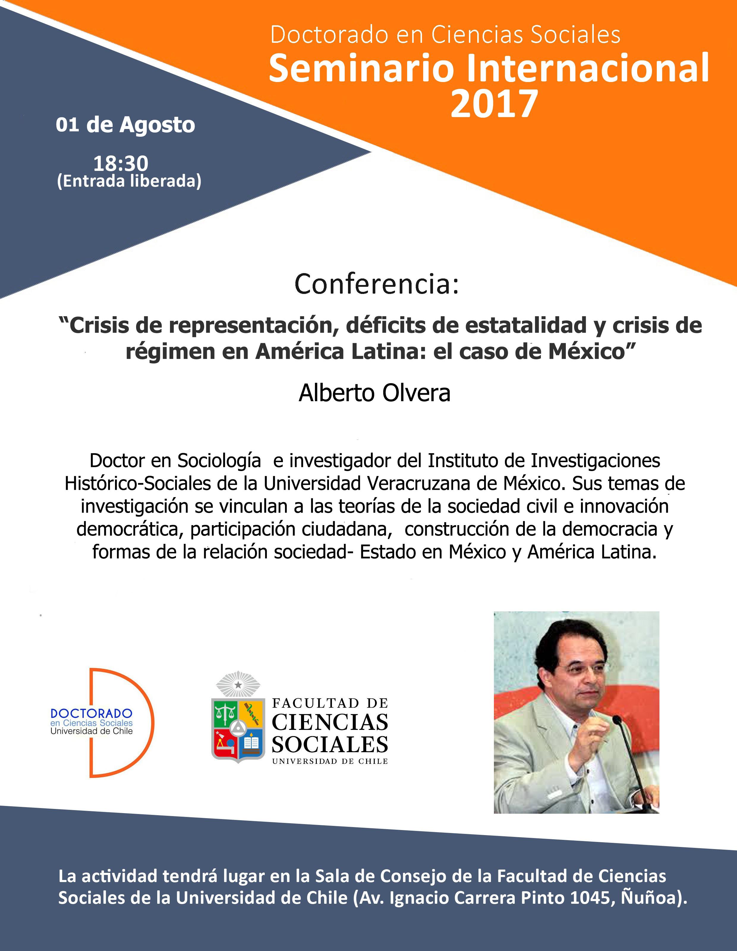 Tercera sesión Seminario Internacional 2017: Doctor Alberto Olvera