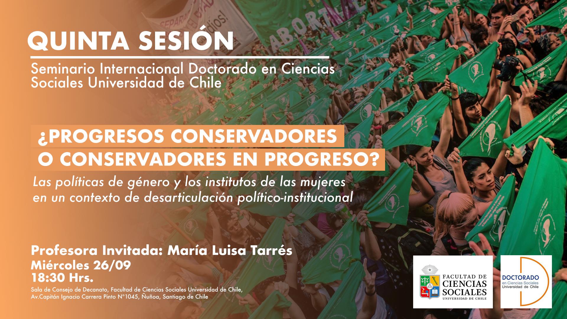 Quinta Sesión Seminario Internacional. Prof. invitada: María Luisa Tarrés