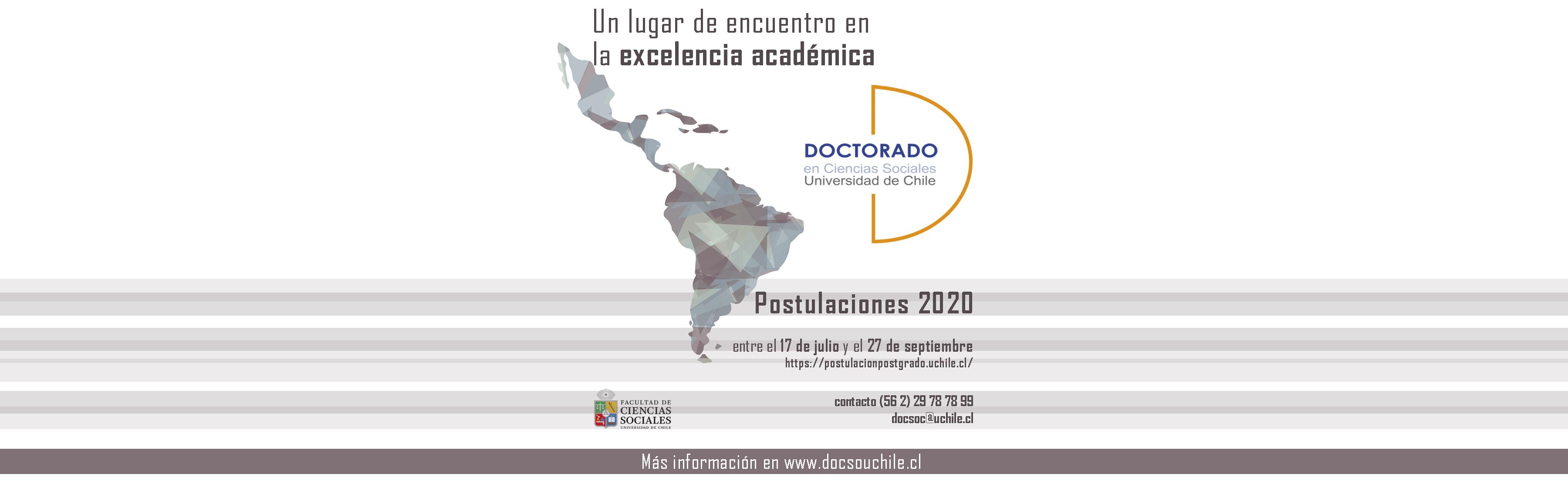 Abiertas las postulaciones al Doctorado en Ciencias Sociales primer semestre 2020