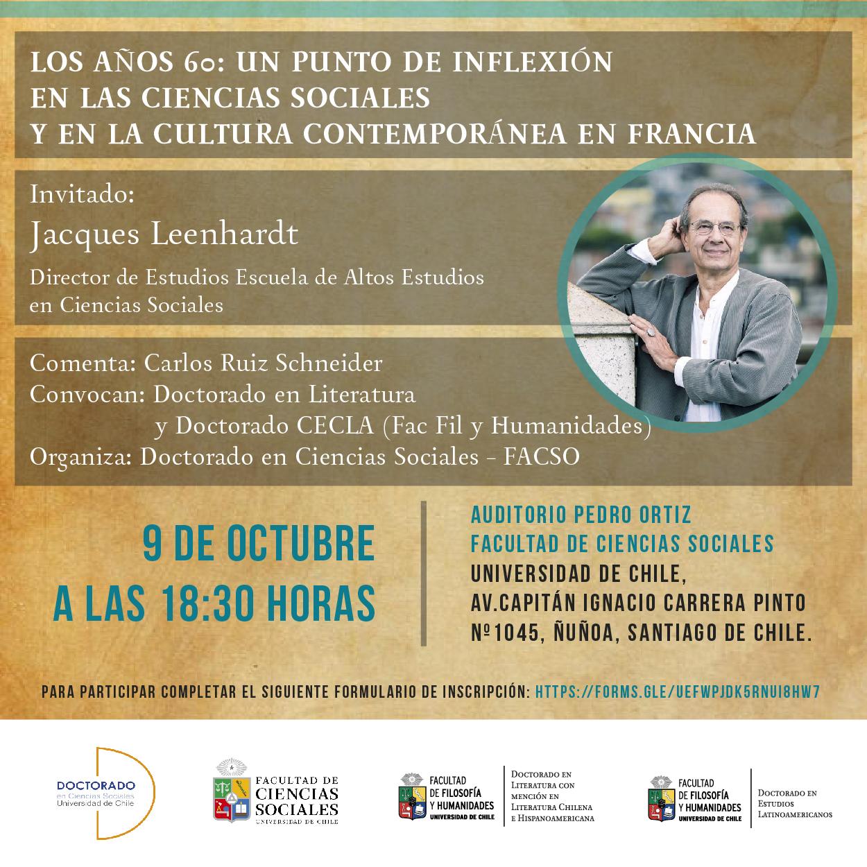 Conferencia del profesor Jacques Leenhardt
