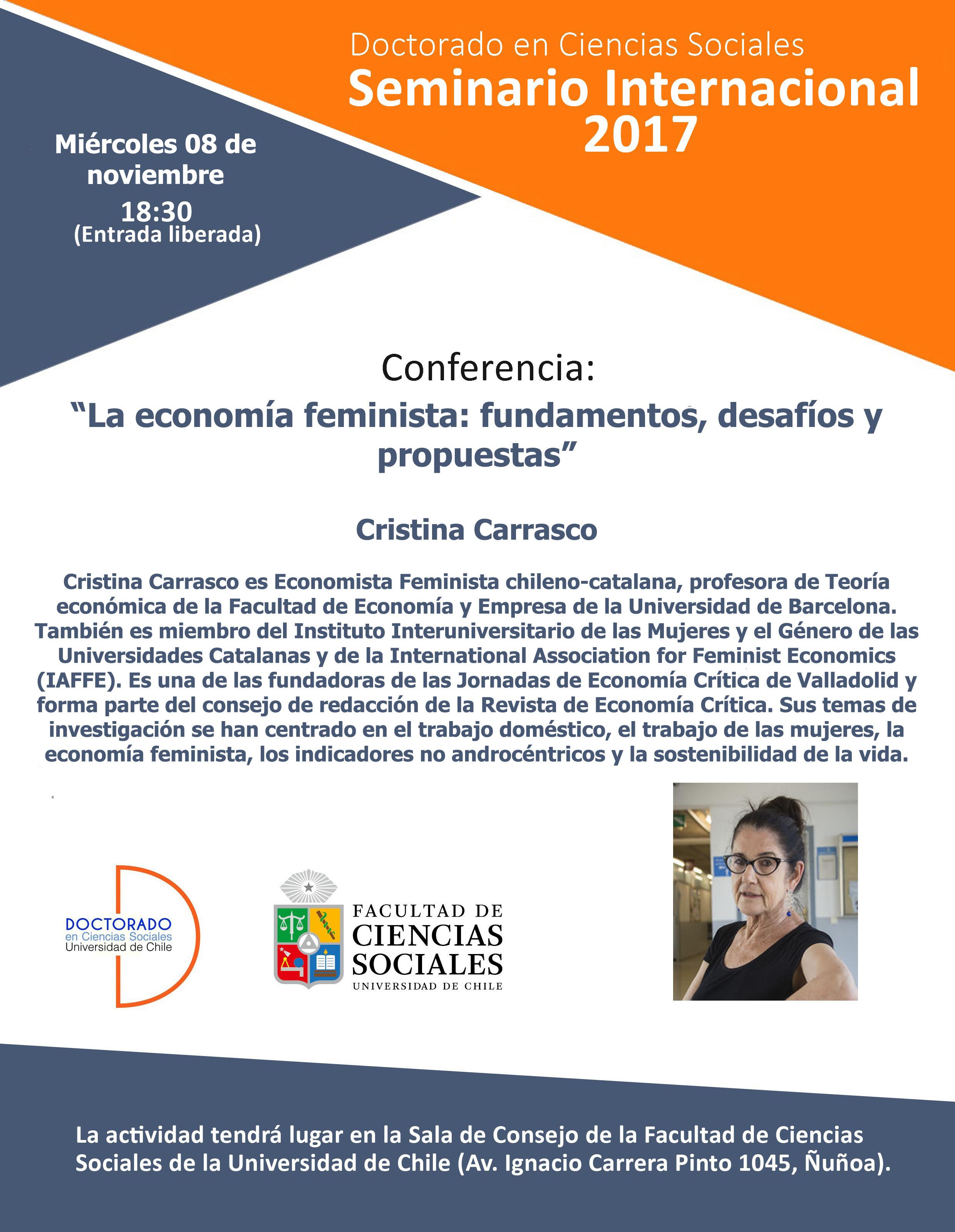 Octava Sesión Seminario Internacional 2017: Cristina Carrasco