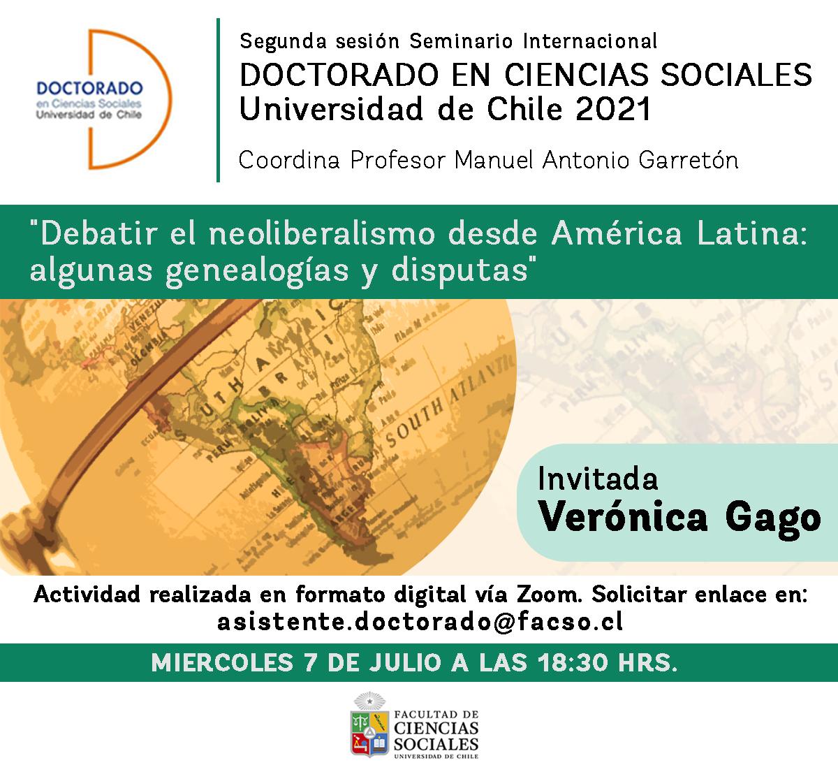 Segunda sesión del seminario Internacional del Doctorado en Ciencias Sociales 2021