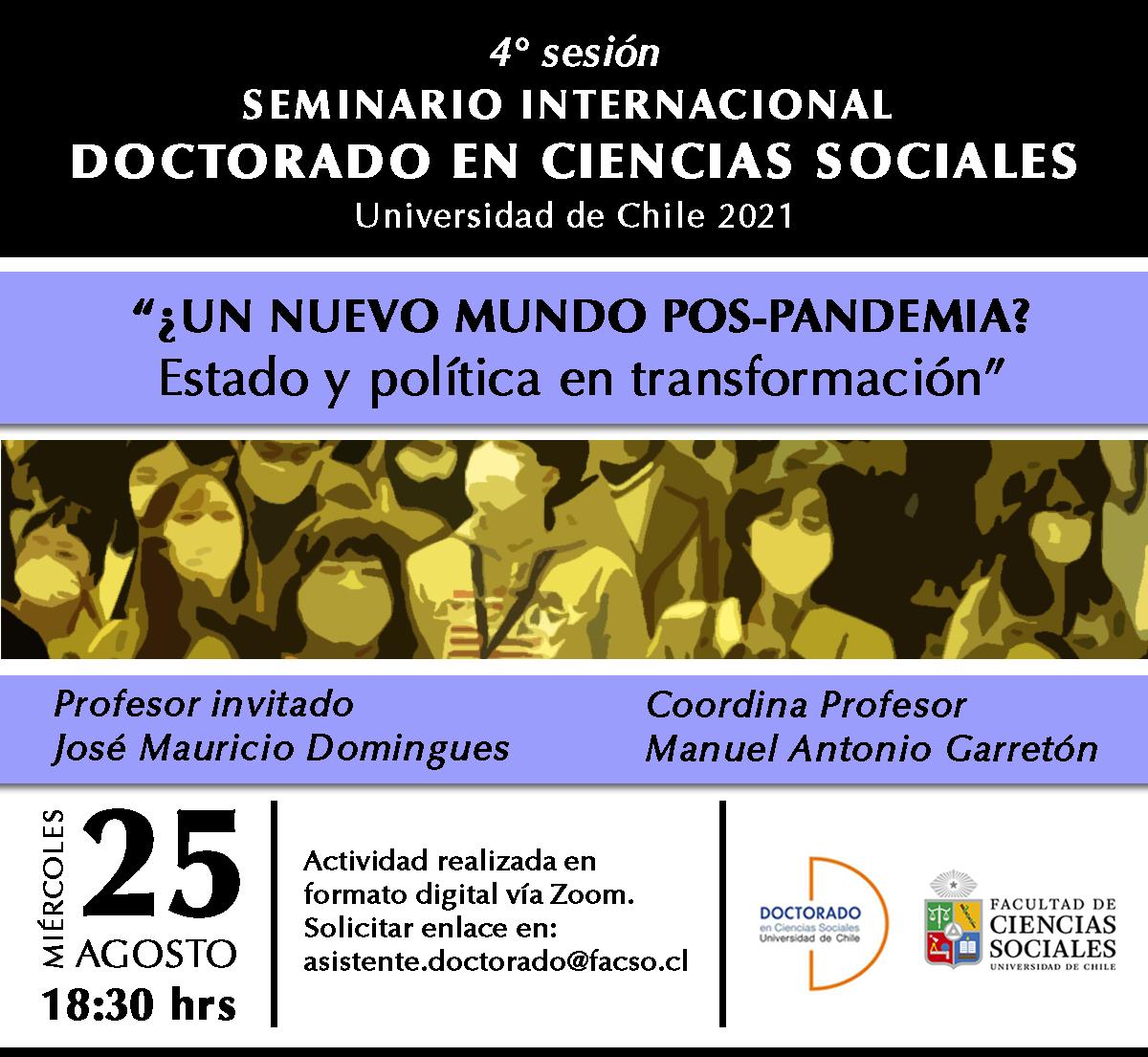 Cuarta sesión del seminario Internacional del Doctorado en Ciencias Sociales 2021
