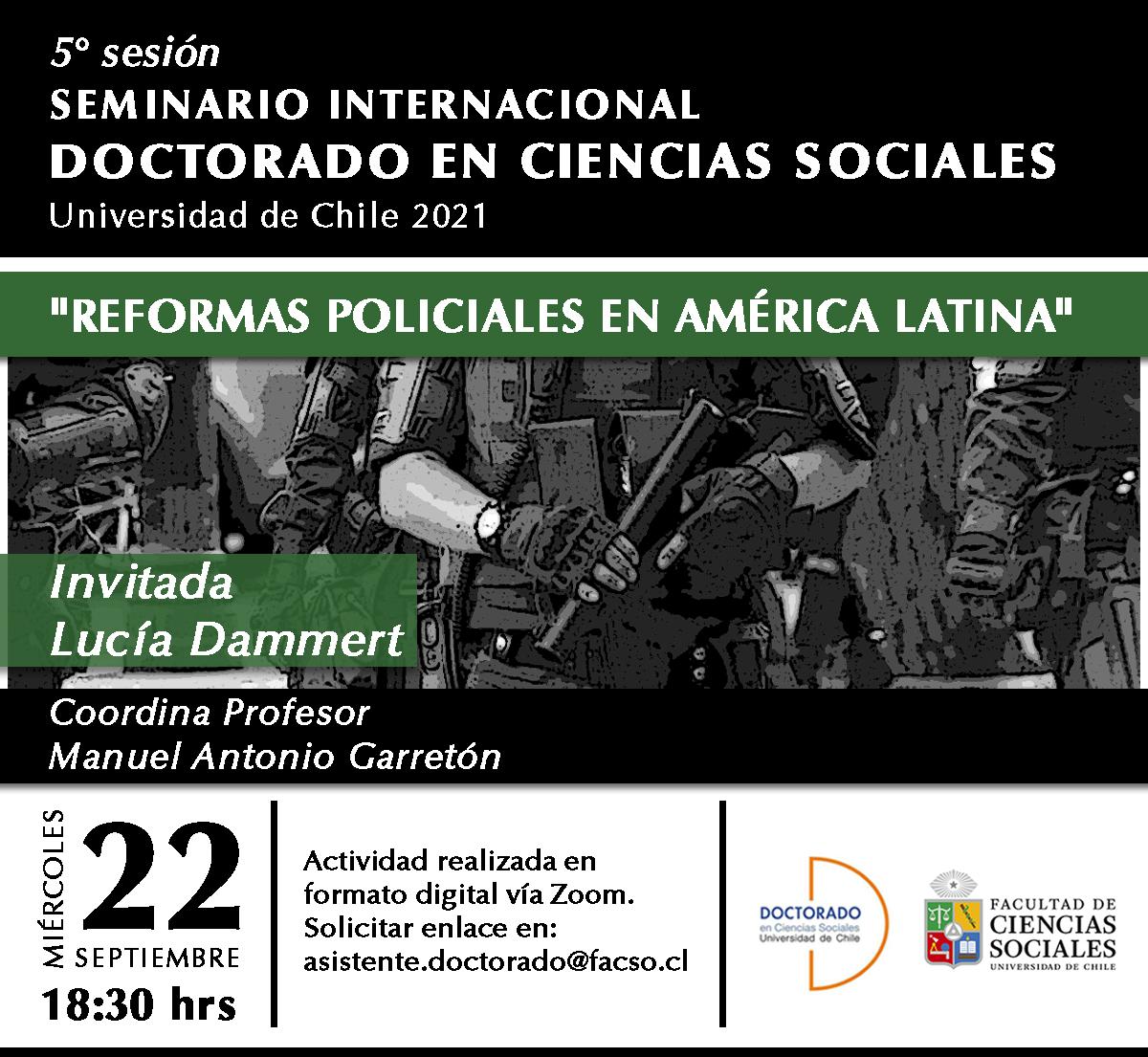 Quinta sesión del seminario Internacional del Doctorado en Ciencias Sociales 2021