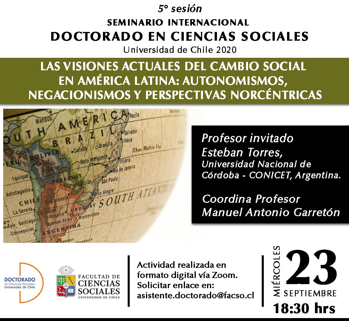 5ta sesión Seminario Internacional 2020