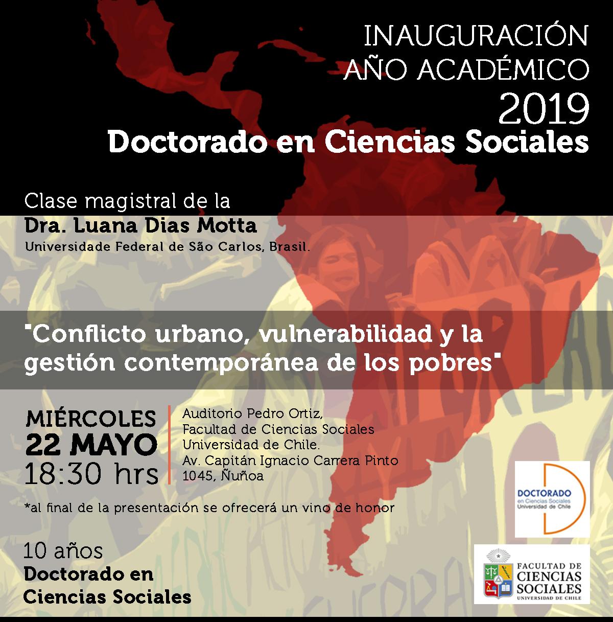 Inauguración año académico 2019 Doctorado en Ciencias Sociales