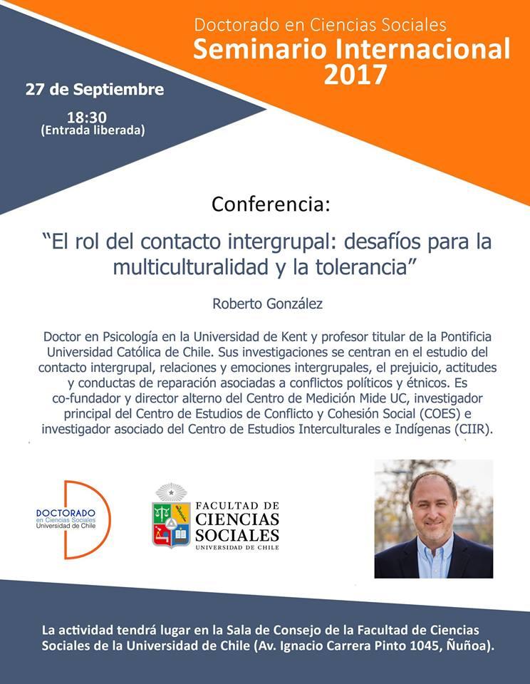 Quinta sesión Seminario Internacional 2017: Roberto González