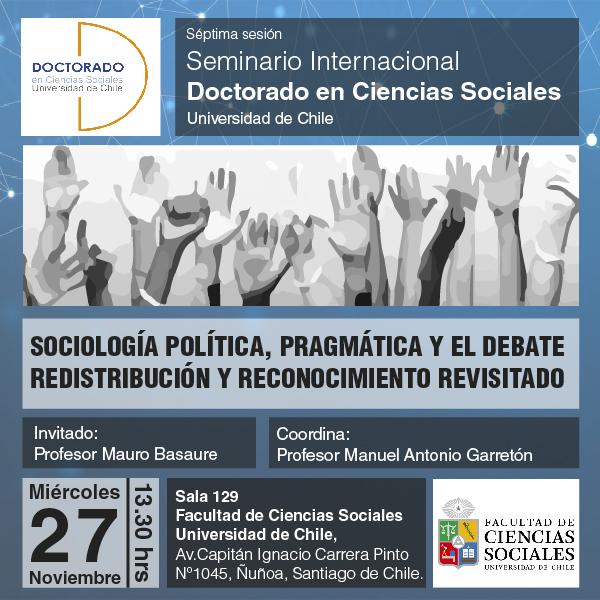 SEMINARIO INTERNACIONAL, DOCTORADO DE CIENCIAS SOCIALES